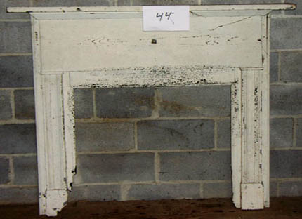 Virginia Cottage Mantel Painted White Beaverdam Custom Builders