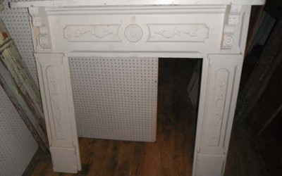 White Painted Mantel