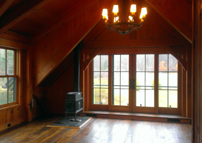Custom Douglas Fir Timber frame built near Sperryville, Va