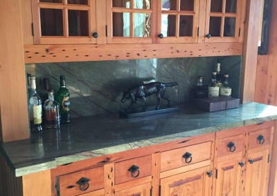 Custom Douglas Fir Built in Bar